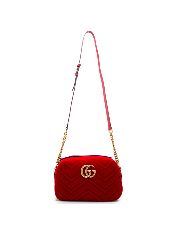 be56821cc7fc 1x Gucci Red Small GG Marmont Velvet Camera Bag €950 – CHIIIQ Exclusives